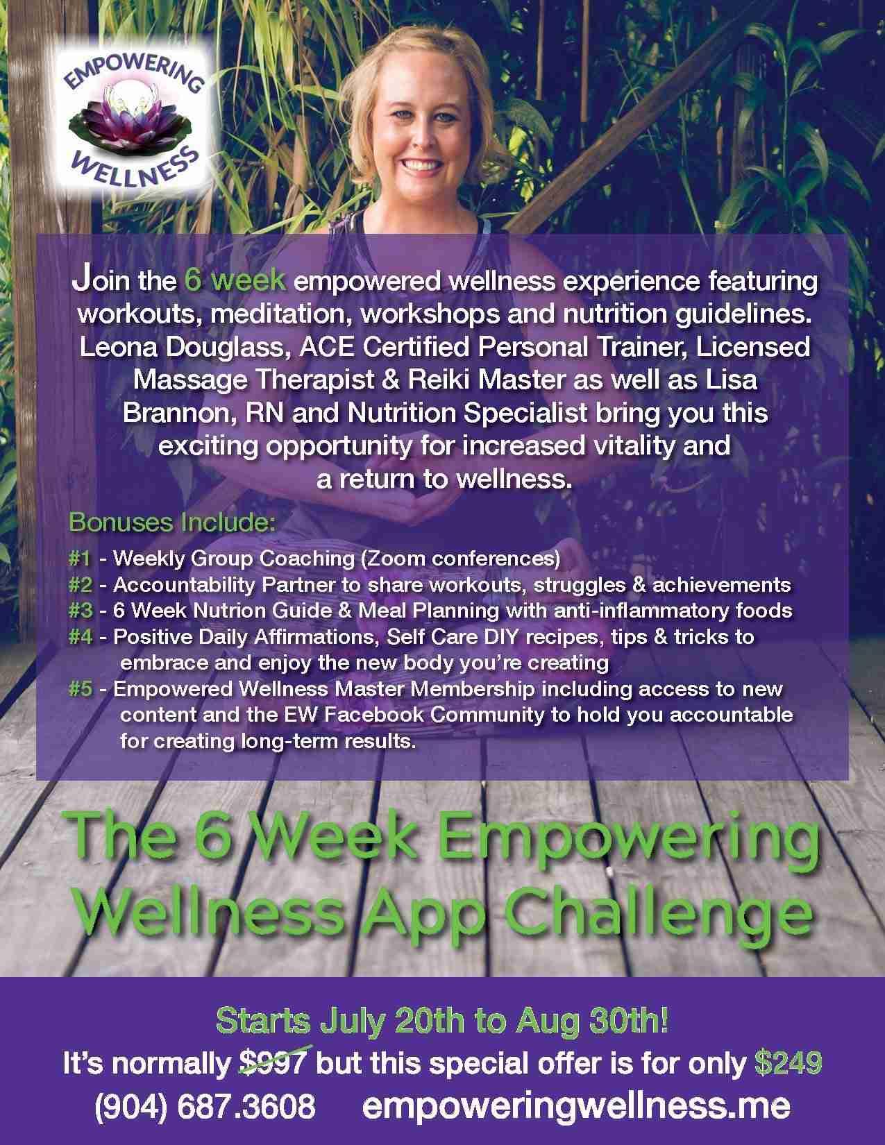 6 Week Challenge Flyer