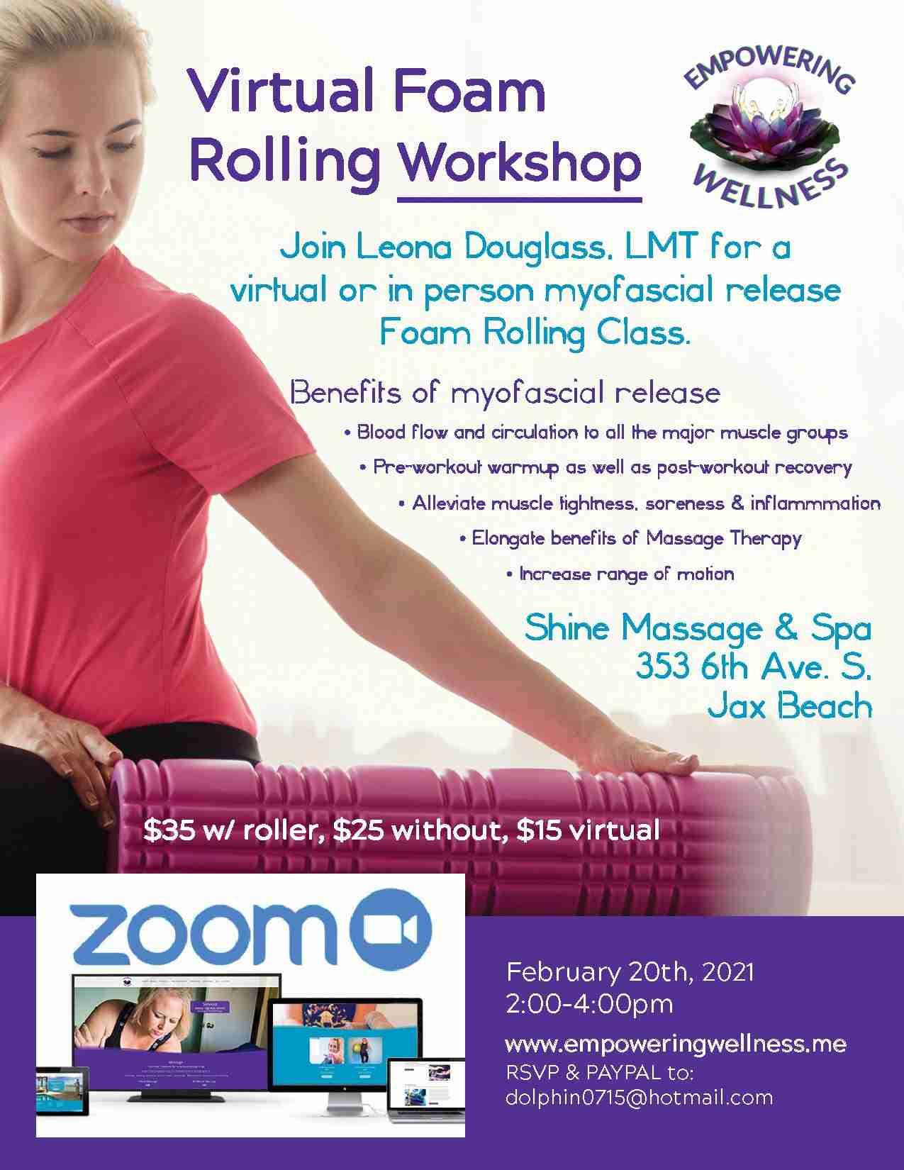 Foam Rolling Workshop Feb