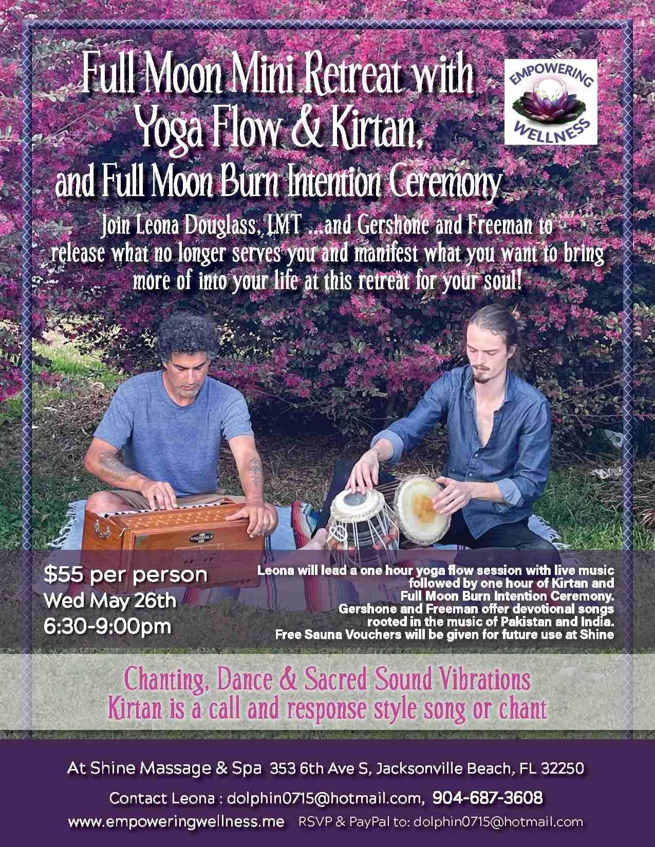 Full Moon Yoga & Kirtan EVENT
